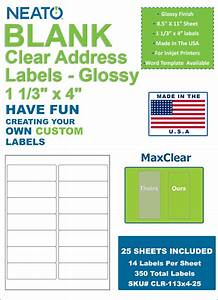 clear address labels 1 1 3quot x 4quot glossy for inkjet With address labels for sale