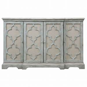 Sophie Weathered Gray Four Door Cabinet Uttermost Cabinets