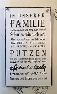 Vintage Schilder Mit Sprüchen : familie wandschild deko shabby vintage in m bel wohnen dekoration schilder tafeln ~ A.2002-acura-tl-radio.info Haus und Dekorationen
