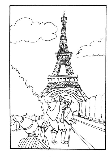 eiffel tower coloring page getcoloringpagescom