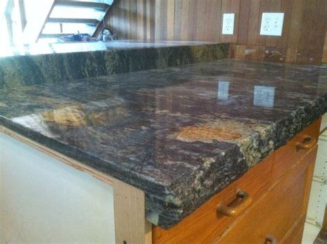 chiseled edge of granite countertop stocker tile