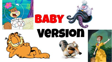 Cartoons Characters Baby Version