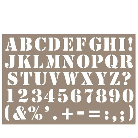 pochoir deco industriel pochoir home d co 10 x 15 cm alphabet industriel pochoir alphabet