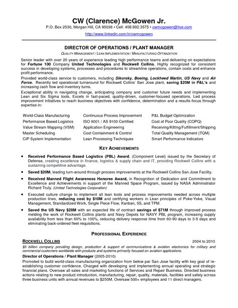 Power Plant Maintenance Resume by Lean Operations Inspirational Quotes Quotesgram