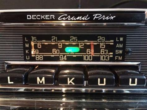 becker grand prix wonderbar vintage classic car fm radio