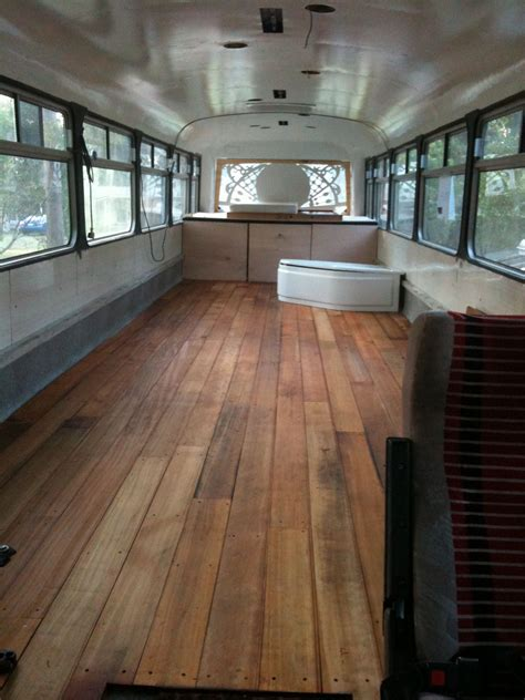 special bus project floor bed base window art bathnot installed rv living