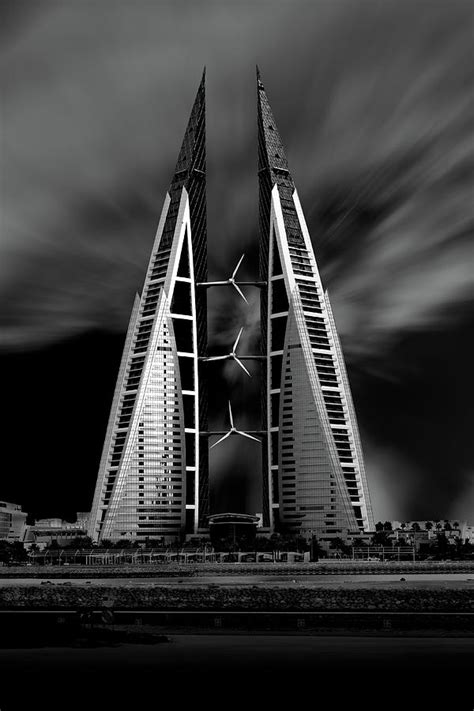 Bahrain World Trade Center Photograph by Kevin Nirsimloo