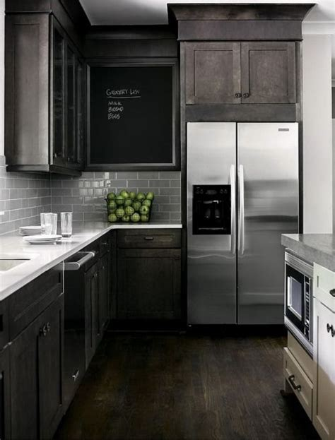 gray  white cabinetry  oil rubbed bronze hardware