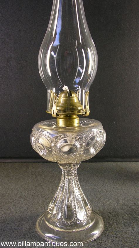 Glass Chimney Lamp Shades by Eapg Bullseye With Diamond Point Lamp Oil Lamp Antiques
