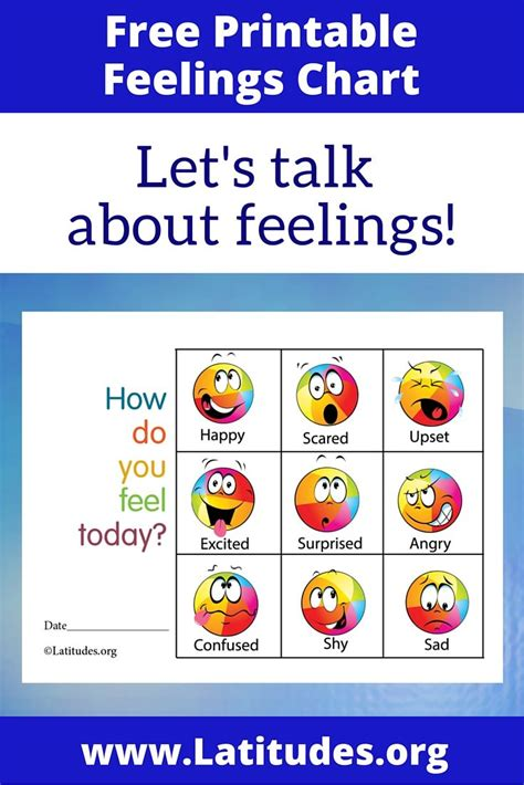 free feelings chart how do you feel today colorful 749   e91ae2df611ac4543e5cd0e508ee376f feelings chart preschool printables