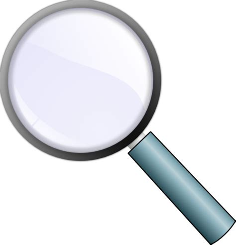 cl on magnifying l magnifying glass clip art free vector 4vector