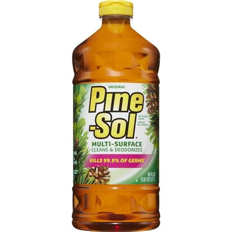 bathroom floor cleaner shop pine sol 60 fl oz pine all purpose cleaner at lowes com