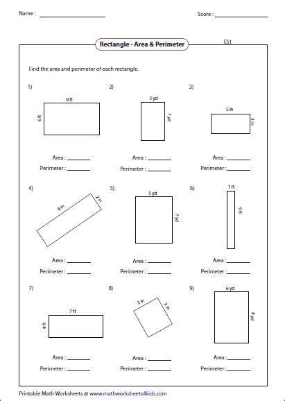 area  perimeter  rectangle mixed perimeter