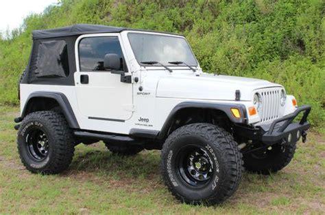 lifted jeep 2 door find used 2004 jeep wrangler sport utility 2 door 4 0l