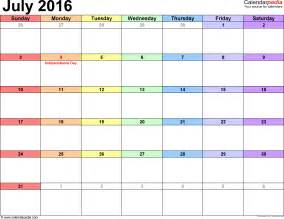 image gallery july calendar