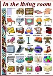 is livingroom one word teaching worksheets living room