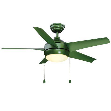 hton bay windward fan hton bay windward 44 in indoor green ceiling fan with