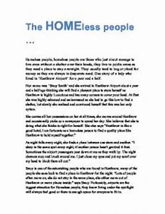 After High School Essay Essay On Homelessness In The Uk Personal Essay Thesis Statement Examples also How To Write A Thesis Paragraph For An Essay Essay On Homelessness Top Essay Ghostwriter Website Uk Essay On  Examples Of Essays For High School