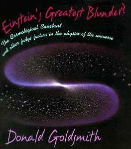 Einstein's Greatest Blunder? : Donald W. Goldsmith ...