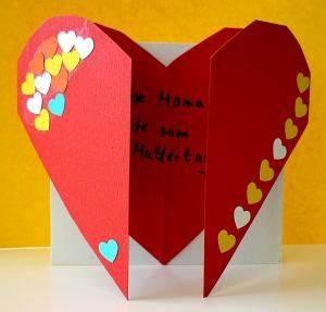 Herz Aus Papier Basteln : muttertagskarte zum ffnen muttertag basteln meine ~ Lizthompson.info Haus und Dekorationen