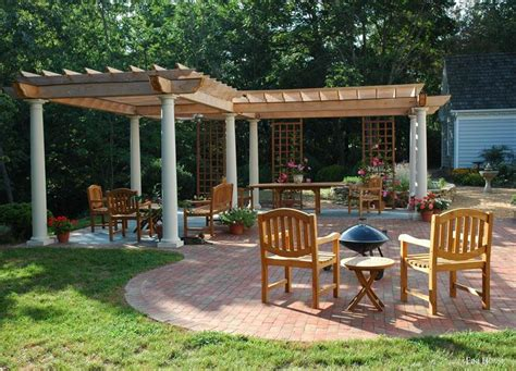 Patio Plans by A Exle Of An L Shaped Pergola In Clear Cedar With