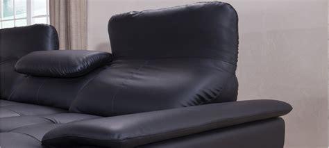 canape angle cuir noir canapé d 39 angle en cuir noir à prix canon