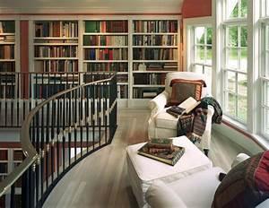 Home Library Design by Saccoccio & Associates, Cranston, RI