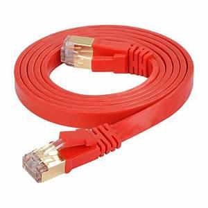 Lan Kabel Stecker : cat 7 flachkabel u ftp lan kabel rj45 stecker rot ~ Orissabook.com Haus und Dekorationen