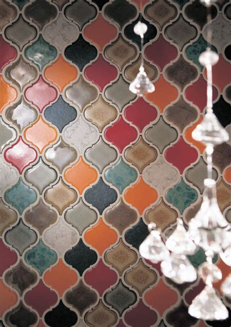 lantern tile glazed lantern shaped mosaic ceramics pinterest