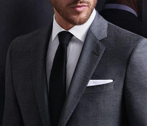 grauer anzug krawatte grauer canvas anzug wei 223 es hemd und schwarze krawatte anz 252 ge krawatte