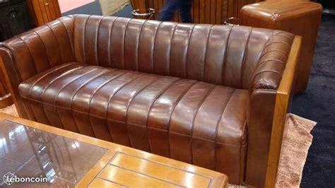leboncoin canapé canapé 3 places bois et cuir havane ameublement cher