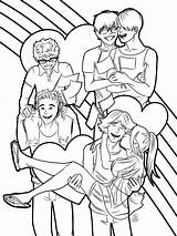 Coloring Haikyuu Printable Anime Popular sketch template
