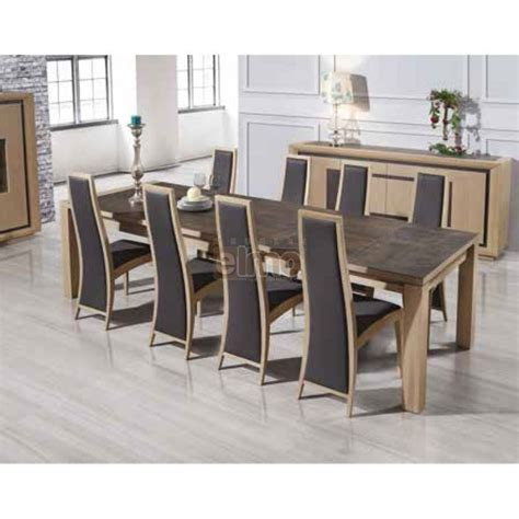 destockage meuble cuisine pas cher table salle à manger contemporaine chêne massif et céramique