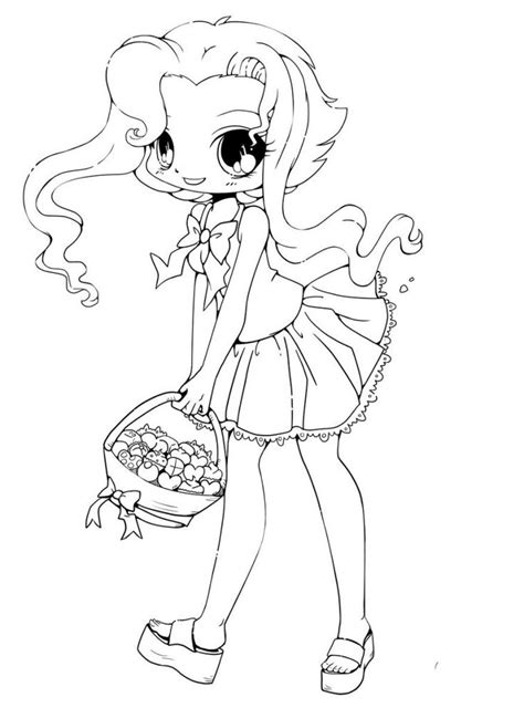 printable chibi coloring pages omalovanky pinterest