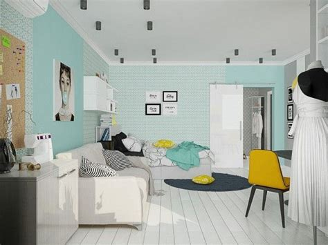 4 Small Studio Apartments Decorated In 4 Different Styles All 50 Square Meters With Floor Plans by 4 Small Beautiful Apartments 50 Square Meters
