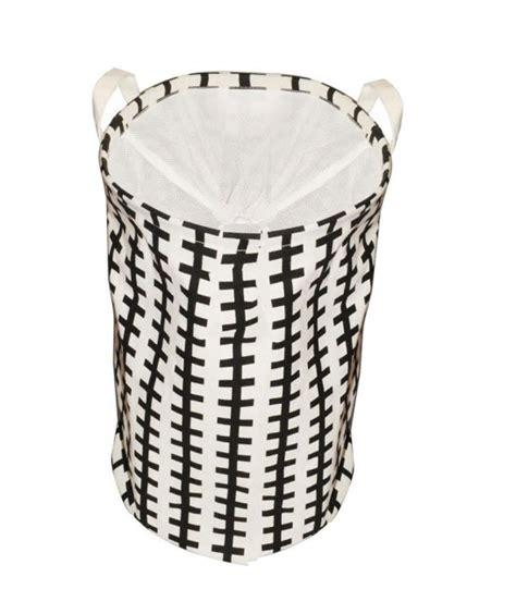 panier a linge noir panier 224 linge noir et blanc lodge polycoton enduit