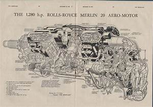 The Rolls Royce Merlin 20 Aero Engine 1942 W W 2