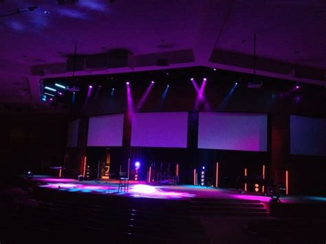stage lighting design industrial light sabers church stage design ideas