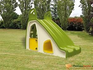 Cabane Enfant Plastique : toboggan en plastique double enfant pili maisonnette ~ Preciouscoupons.com Idées de Décoration