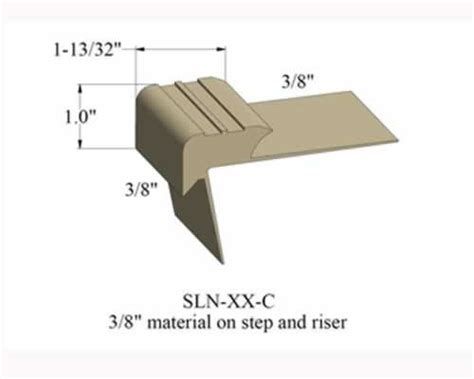 vinyl stair nosing by johnsonite