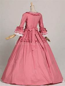 historical 18th century colonial era dress ball gown With robe coloniale