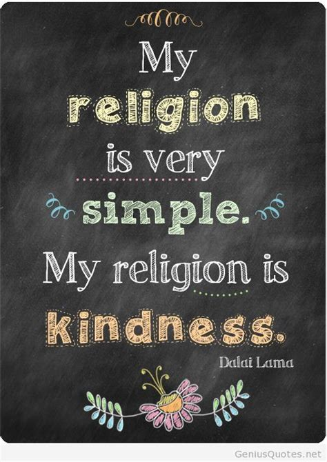 simple religion by dalai lama but you make it