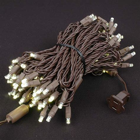 brown wire lights brown wire wide angle warm white 100 bulb led
