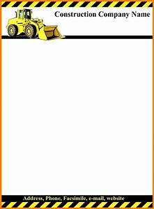 Microsoft Word Cover Letter Templates 6 Construction Letterhead Templates Letter Flat