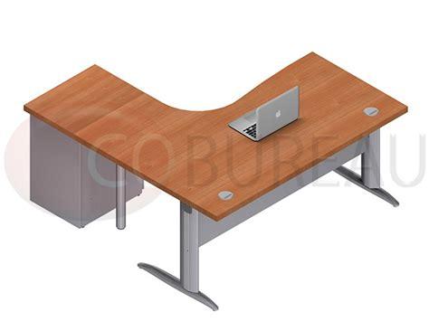 pro bureau bureau compact 160 cm pro métal avec caisson métallique
