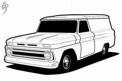 Coloring Chevy Truck Pages Lowrider Trucks Cars