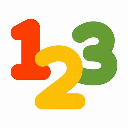 Numbers Icon Clipart 123 Icons Number Vector