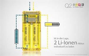 Li Ion Akku Laden : nitecore q2 schnelladeger t f r li ion akkus 4 farben ~ Kayakingforconservation.com Haus und Dekorationen