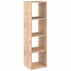 Astigarraga etagere 4 cases bois 140cm dinamic 4 for Meuble cube 8 cases 18 etagere bibliotheque en bois et metal achat vente
