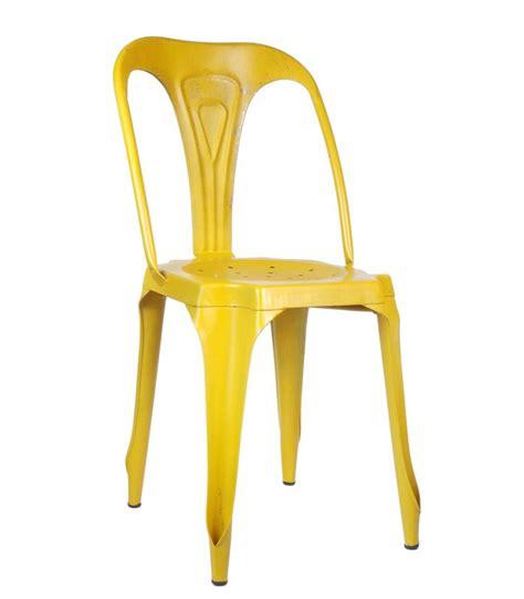 chaise métal industriel chaise style industriel en métal vintage jaune wadiga com